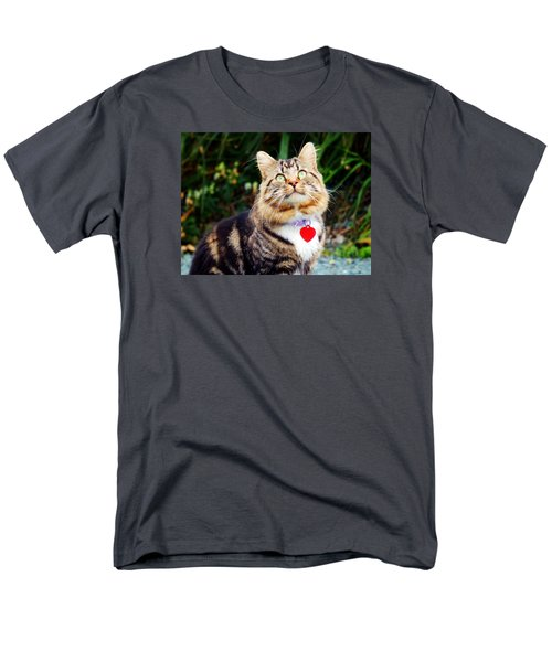 Men's T-Shirt  (Regular Fit) featuring the photograph What's Up There by Zinvolle Art