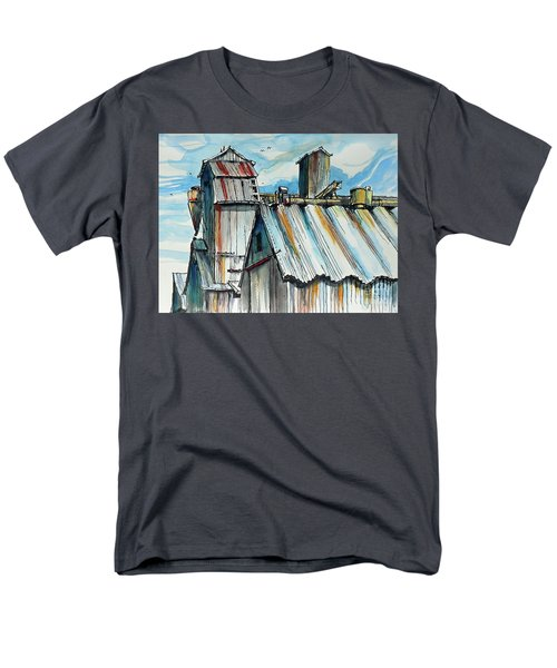 Men's T-Shirt  (Regular Fit) featuring the painting Wheatland High Rise by Terry Banderas