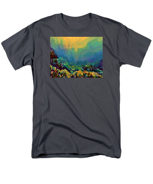 When The Sun Is Looking Into The Sea Men's T-Shirt  (Regular Fit) by AmaS Art