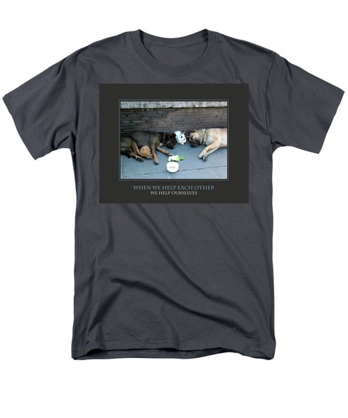 Men's T-Shirt  (Regular Fit) featuring the photograph When We Help Each Other by Donna Corless
