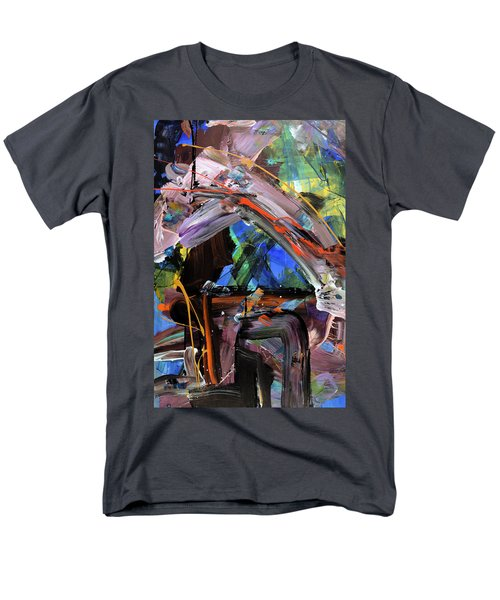 Where The Smiles Roam Abstract  Men's T-Shirt  (Regular Fit) by Erika Pochybova
