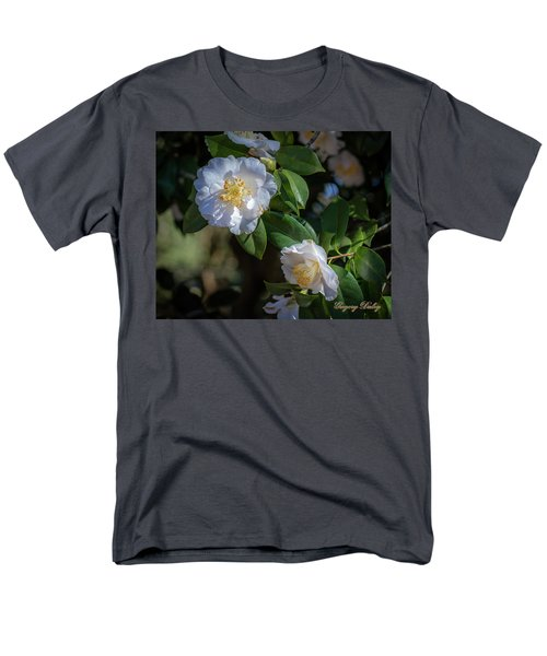 Men's T-Shirt  (Regular Fit) featuring the photograph White Camelia 02 by Gregory Daley  PPSA