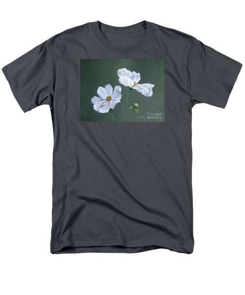 White Cosmos Men's T-Shirt  (Regular Fit) by Phyllis Howard