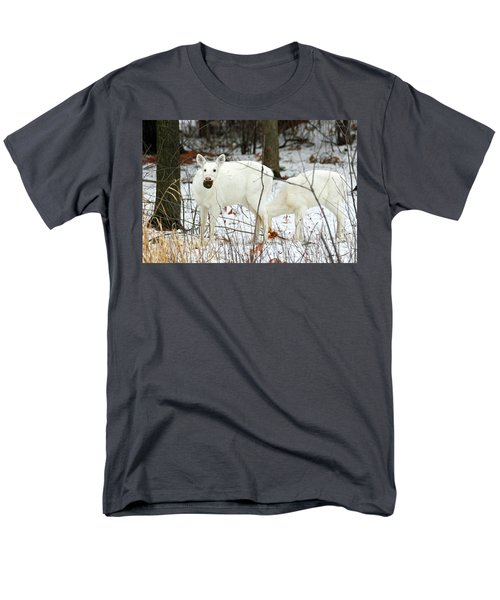 White Deer With Squash 3 Men's T-Shirt  (Regular Fit) by Brook Burling