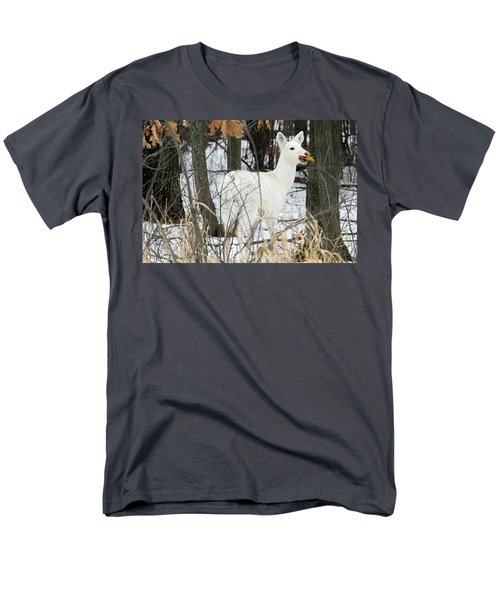 White Doe With Squash Men's T-Shirt  (Regular Fit) by Brook Burling