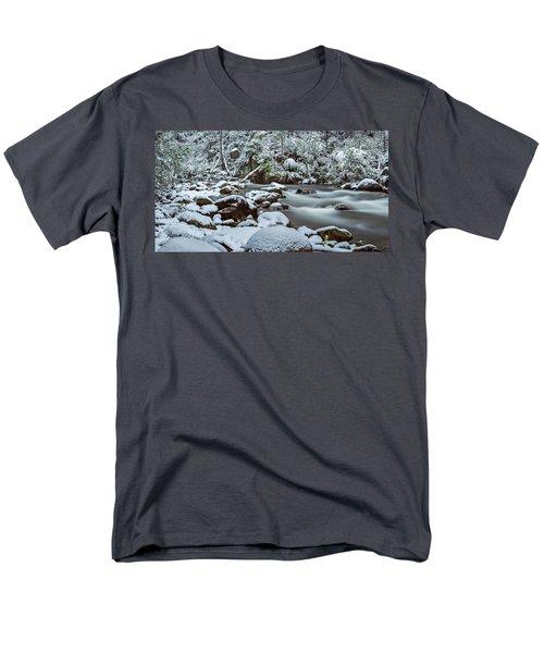 White On Green Men's T-Shirt  (Regular Fit) by Mark Lucey