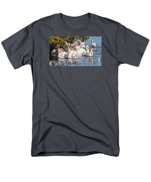 White Pelicans And Others Men's T-Shirt  (Regular Fit) by Dorothy Cunningham