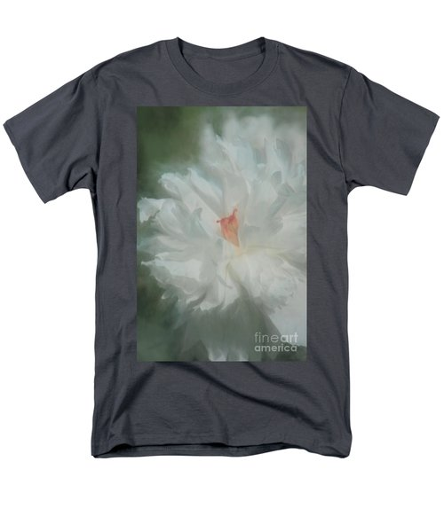 Men's T-Shirt  (Regular Fit) featuring the photograph White Peony by Benanne Stiens