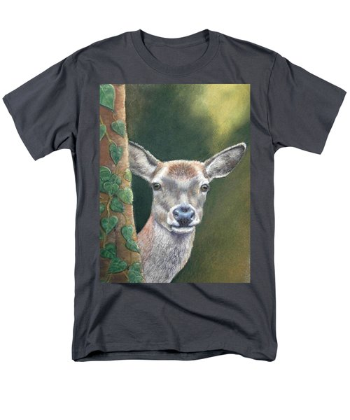 White Tail Doe At Ancon Hill Men's T-Shirt  (Regular Fit) by Ceci Watson