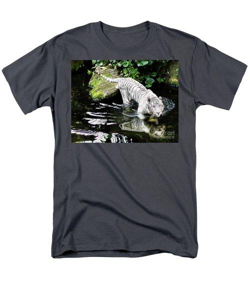 White Tiger Men's T-Shirt  (Regular Fit)