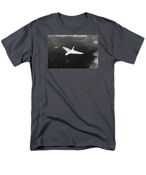 Men's T-Shirt  (Regular Fit) featuring the digital art White Vulcan B1 At Altitude Black And White Version by Gary Eason