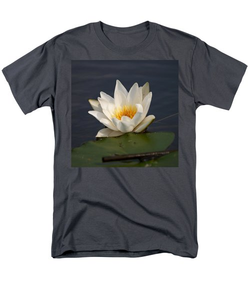 Men's T-Shirt  (Regular Fit) featuring the photograph White Waterlily 1 by Jouko Lehto