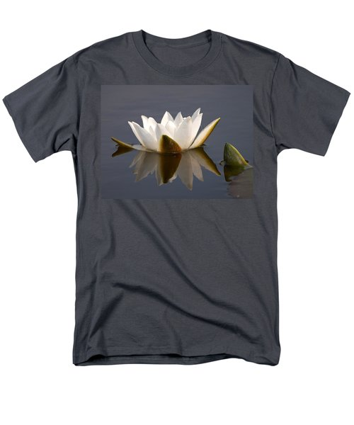Men's T-Shirt  (Regular Fit) featuring the photograph White Waterlily 2 by Jouko Lehto
