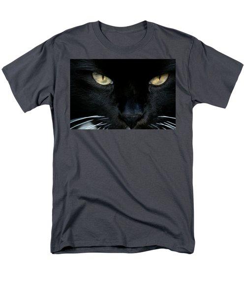 White Whiskers Men's T-Shirt  (Regular Fit)