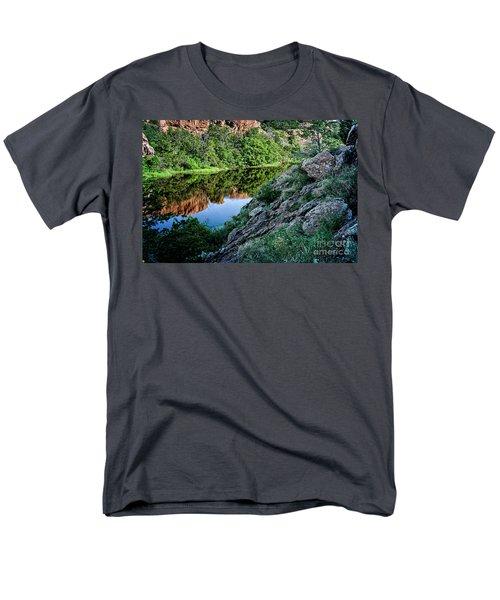 Wichita Mountain River Men's T-Shirt  (Regular Fit) by Tamyra Ayles