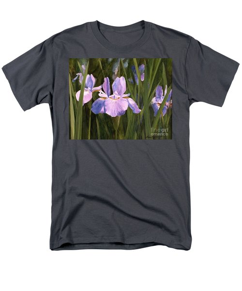 Wild Iris Men's T-Shirt  (Regular Fit) by Laurie Rohner