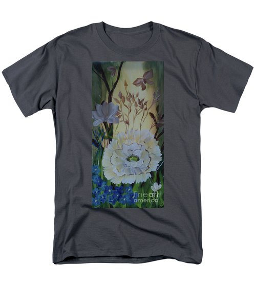 Wild Rose In The Forest Men's T-Shirt  (Regular Fit) by Donna Brown