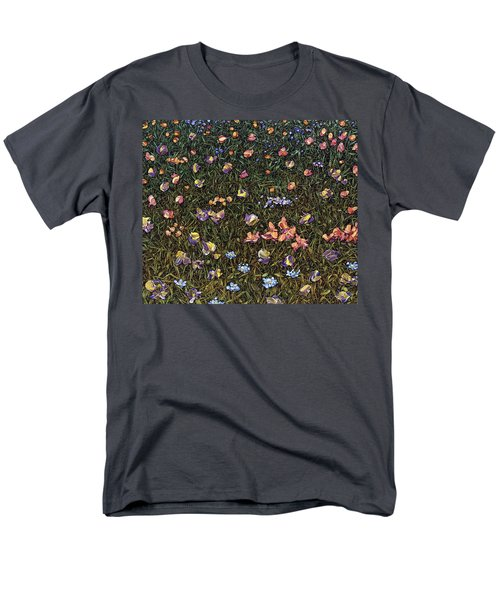 Men's T-Shirt  (Regular Fit) featuring the painting Wildflowers by James W Johnson