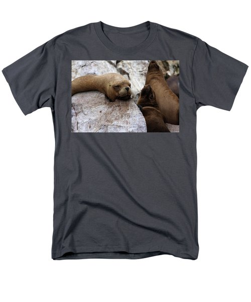 Men's T-Shirt  (Regular Fit) featuring the photograph Wildlife Of The Ballestas Islands by Aidan Moran