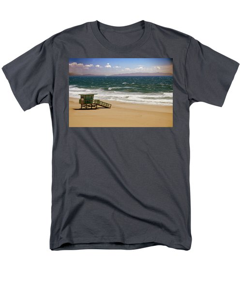 Men's T-Shirt  (Regular Fit) featuring the photograph Windy Beach Day by Joseph Hollingsworth