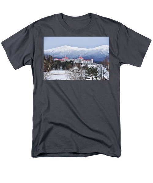 Winter At The Mt Washington Hotel Men's T-Shirt  (Regular Fit) by Tricia Marchlik