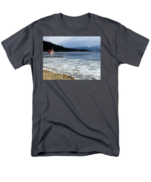 Men's T-Shirt  (Regular Fit) featuring the photograph Cottage Life In Winter by Victor K