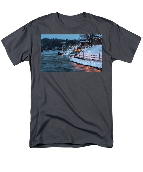 Men's T-Shirt  (Regular Fit) featuring the photograph Winter Canal Walk by Everet Regal