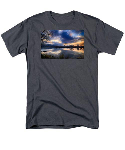 Winter Colors At Sunset Men's T-Shirt  (Regular Fit) by Lynn Hopwood