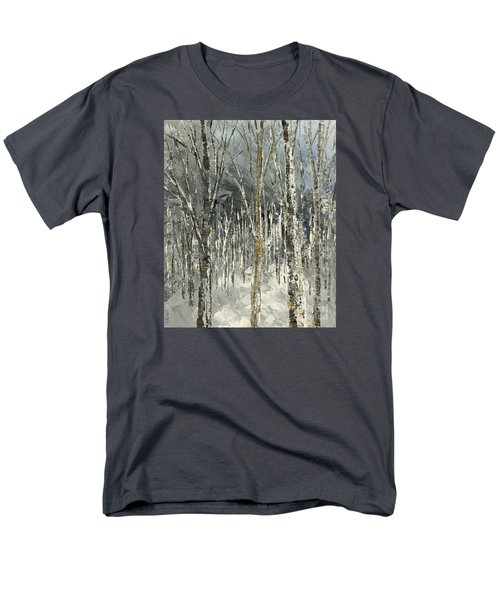 Men's T-Shirt  (Regular Fit) featuring the painting Winter Country by Tatiana Iliina