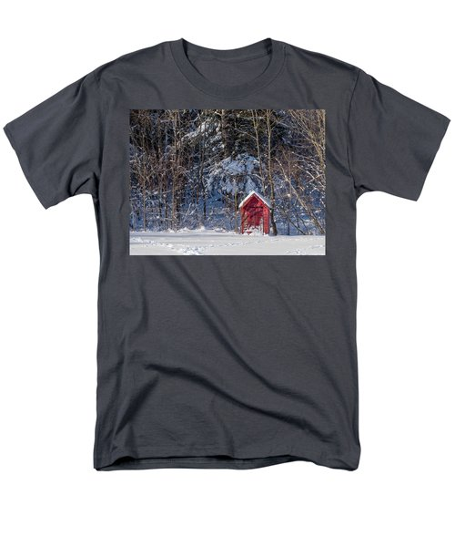 Men's T-Shirt  (Regular Fit) featuring the photograph Winter, Down East Maine  by Trace Kittrell