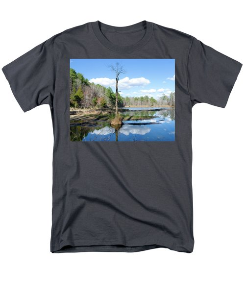 Men's T-Shirt  (Regular Fit) featuring the photograph Winter Lake View by George Randy Bass