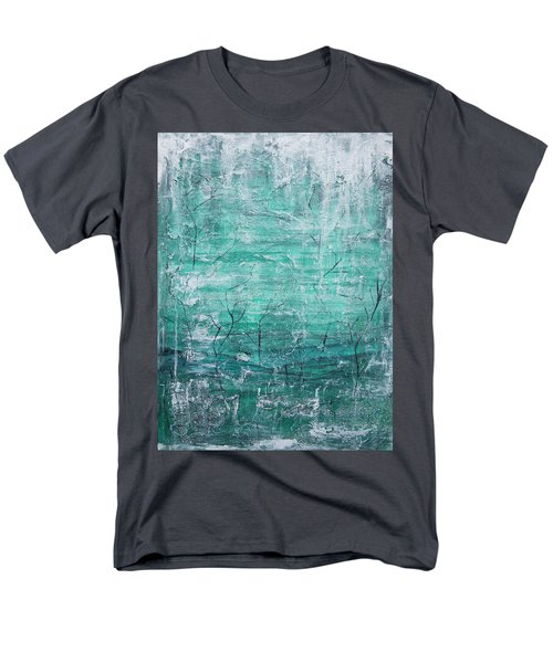 Men's T-Shirt  (Regular Fit) featuring the painting Winter Landscape by Jocelyn Friis