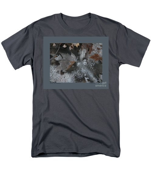 Winter Leaf Abstract-ii Men's T-Shirt  (Regular Fit) by Patricia Overmoyer