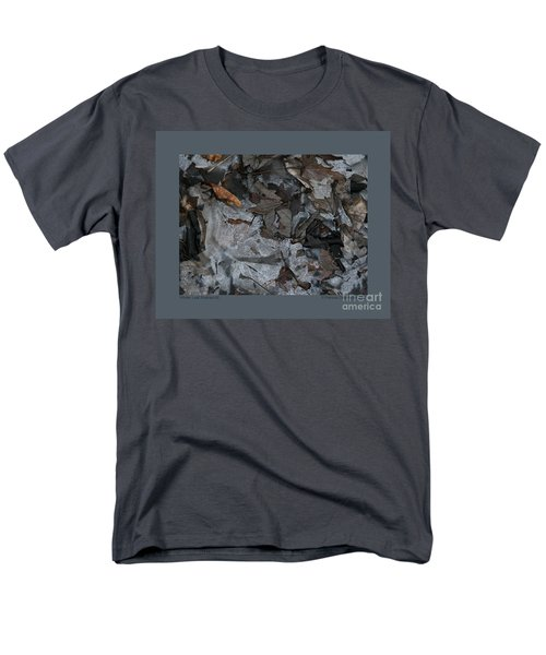 Winter Leaf Abstract-iii Men's T-Shirt  (Regular Fit) by Patricia Overmoyer