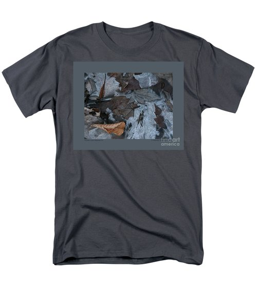 Winter Leaf Abstract-iv Men's T-Shirt  (Regular Fit) by Patricia Overmoyer