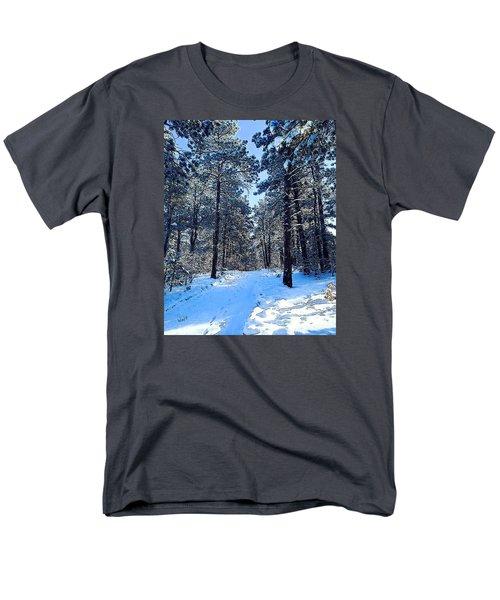 Men's T-Shirt  (Regular Fit) featuring the digital art Winter Morning by Walter Chamberlain