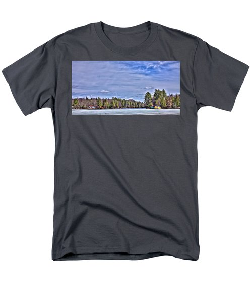 Men's T-Shirt  (Regular Fit) featuring the photograph Winter On The Pond by David Patterson