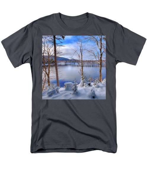Winter On West Lake Men's T-Shirt  (Regular Fit) by David Patterson