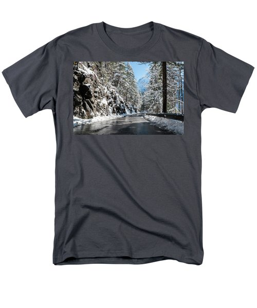 Winter Road Men's T-Shirt  (Regular Fit) by Sergey Simanovsky