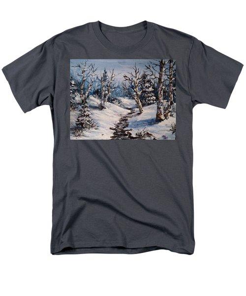 Winter Silence Men's T-Shirt  (Regular Fit) by Megan Walsh