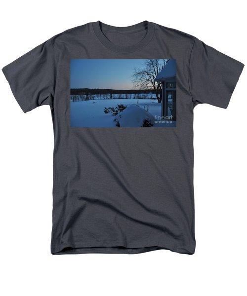 Men's T-Shirt  (Regular Fit) featuring the photograph Winter Sunrise On Demond Pond by John Black
