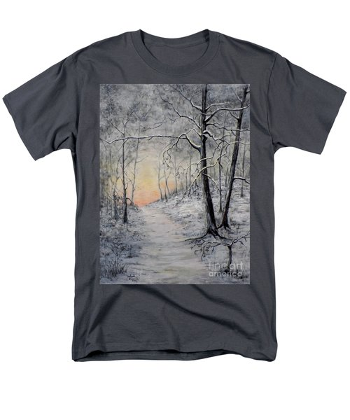 Winter Sunset Men's T-Shirt  (Regular Fit) by Judy Kirouac