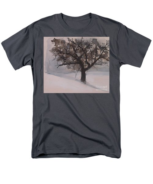 Winter Tree Men's T-Shirt  (Regular Fit) by Laurie Rohner