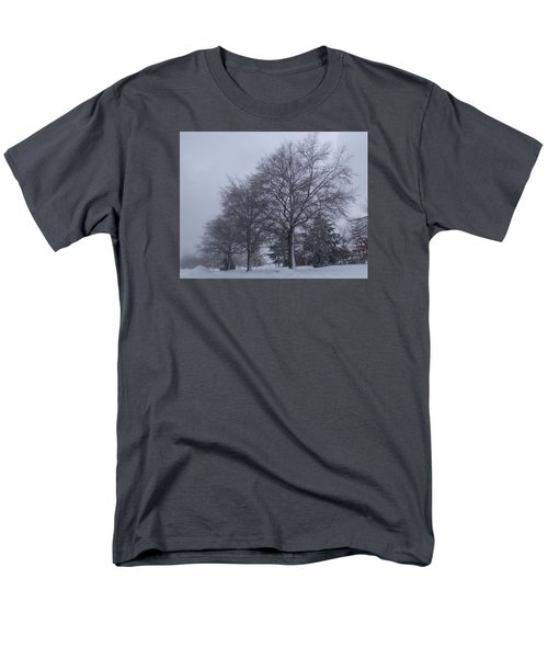 Winter Trees In Sea Girt Men's T-Shirt  (Regular Fit) by Melinda Saminski