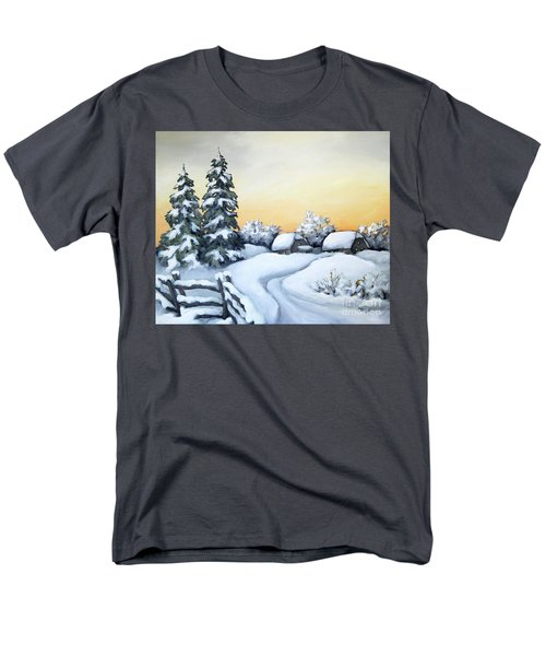 Winter Twilight Men's T-Shirt  (Regular Fit) by Inese Poga