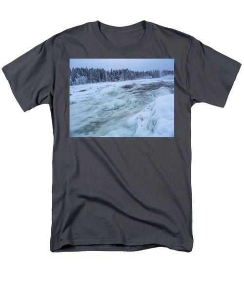 Winter Waterfall Men's T-Shirt  (Regular Fit) by Tamara Sushko