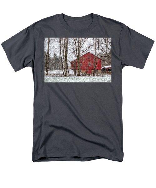 Wintry Barn Men's T-Shirt  (Regular Fit) by Skip Tribby
