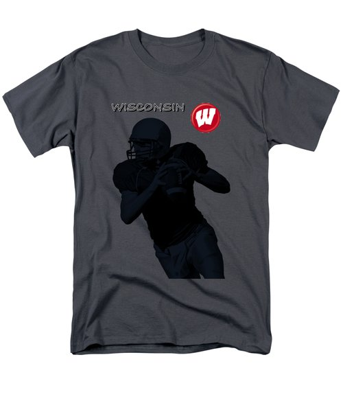 Wisconsin Football Men's T-Shirt  (Regular Fit) by David Dehner