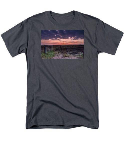 Wolds Sunset 2 Men's T-Shirt  (Regular Fit) by David  Hollingworth