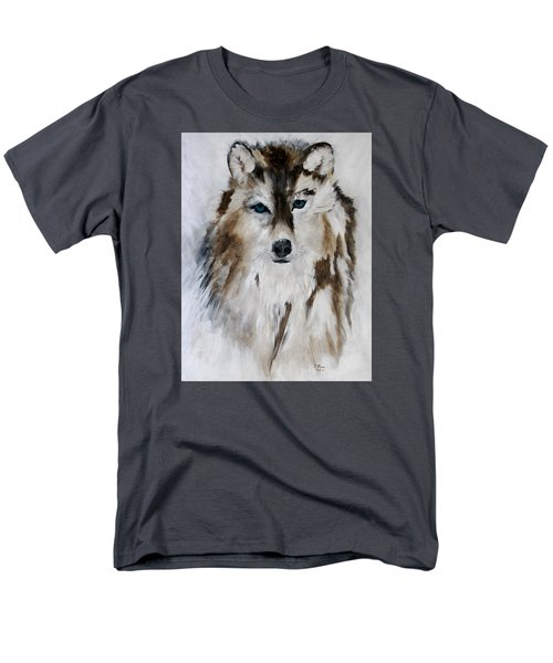 Wolf - Blue Star Men's T-Shirt  (Regular Fit) by Barbie Batson